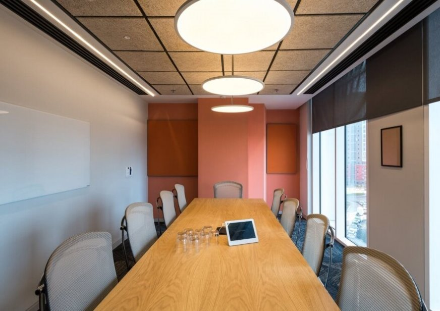 תקרה חצי שקועה לעיצוב המשרד