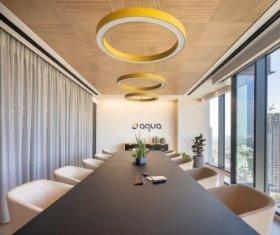 תקרת עץ נסתרת פריקה - משרדי אקווה, תכנון: רונן דוידוף, צלם עוזי פורת (2)