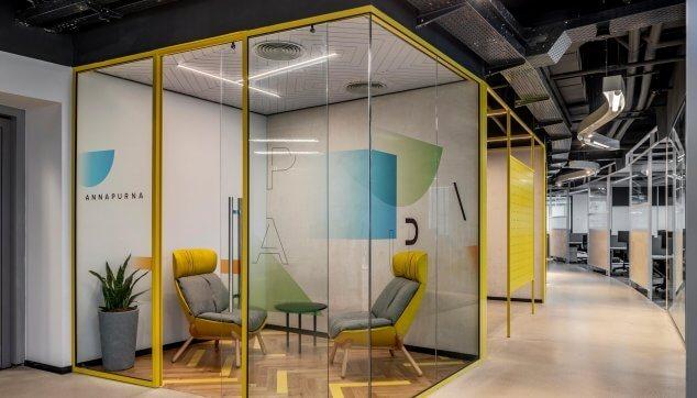 משרדי אינוביד -  תקרת Line EchoShape