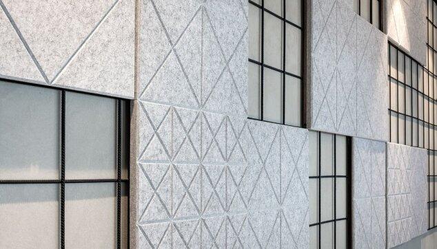 משרדי ירון לוי - חיפוי קיר Line EchoShape