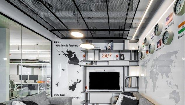 משרדי חברת Chegg -  תקרת  Hook On Expanded